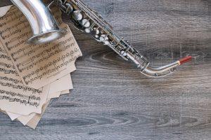saksofon, nuty
